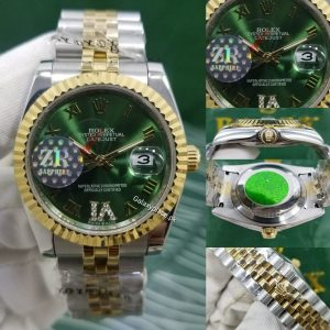 galaxyplace-923132524484-rolex-oyster-perpetual-datejust -II-Green-watch-40097 (1)